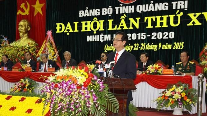 Thủ tướng Nguyễn Tấn Dũng nhấn mạnh trong nhiệm kỳ tới Đảng bộ tỉnh Quảng Trị cần phải nỗ lực hơn nữa để đạt các mục tiêu đề ra