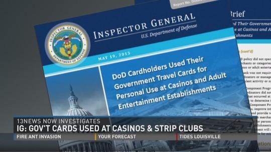 Tổng thanh tra của Lầu Năm Góc đang điều tra nghi án nhân viên Bộ Quốc phòng Mỹ sử dụng công quỹ để trang trải các cuộc vui ở sòng bạc và câu lạc bộ (CLB) thoát y. Ảnh: 13NewsNow
