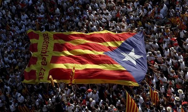 Cờ Catalonia tung bay tại Barca