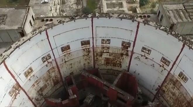 Hình ảnh lò phản ứng trung tâm của nhà máy điện hạt nhân Chernobyl. Nguồn: RT
