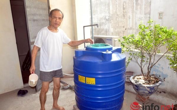 Bình lọc nước giếng khoan của gia đình ông Thành