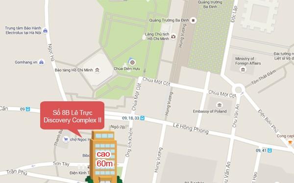 Dự án chung cư Lê Trực nằm ở vị trí trung tâm