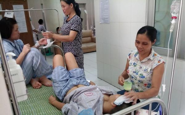 Bệnh nhân sốt xuất huyết điều trị tại Bệnh viện Nhiệt đới Trung ương.
