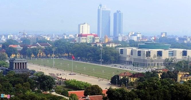 Dự án 8B Lê Trực nhìn ra quảng trường Ba Đình.
