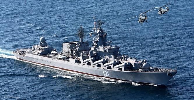 Tuần dương hạm Moskva - Ảnh: TASS