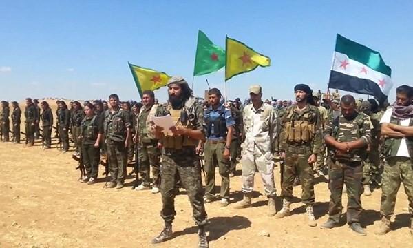 Đơn vị Volcano Euphrates là sự liên kết giữa FSA và YPG Kurd chống IS