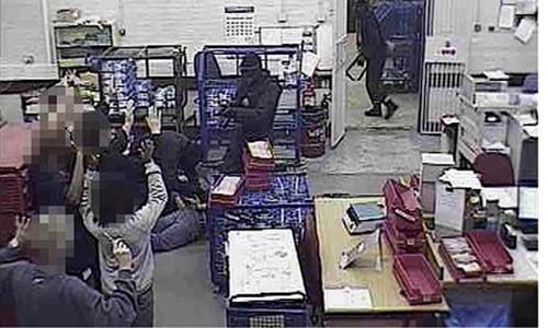 Ảnh vụ cướp kho Securitas từ camera giám sát.