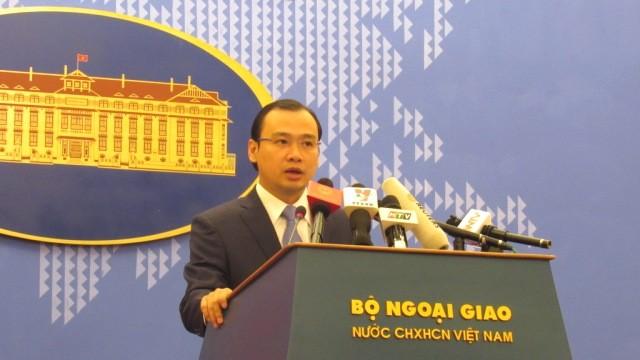 Người phát ngôn Bộ Ngoại giao Lê Hải Bình. Ảnh: Chung Hoàng