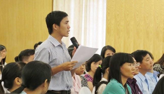 Doanh nghiệp phản ánh nhiều khó khăn trong công tác thuế tại hội nghị hôm nay, 8-10 - Ảnh: Minh Tâm