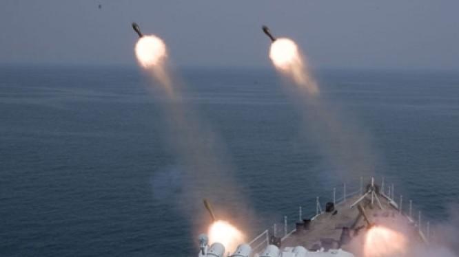 Tàu chiến Trung Quốc tập trận trên biển