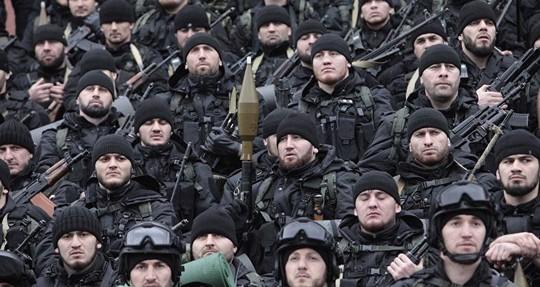 Lực lượng đặc nhiệm của Chechnya Ảnh: SPUTNIK NEWS