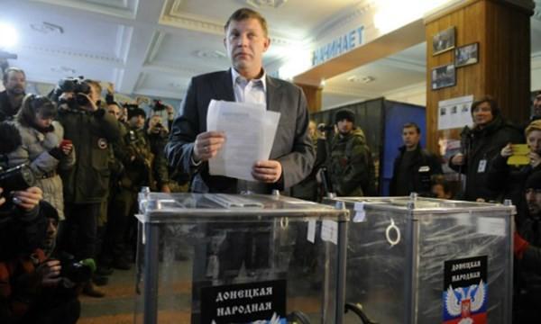 Ông Zakharchenko tham gia cuộc bầu cử địa phương tại Donetsk năm 2014