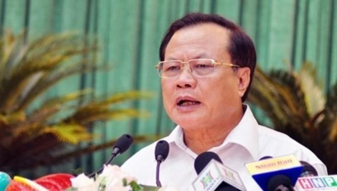 Bí thư Thành ủy Hà Nội Phạm Quang Nghị phát biểu tại hội nghị.