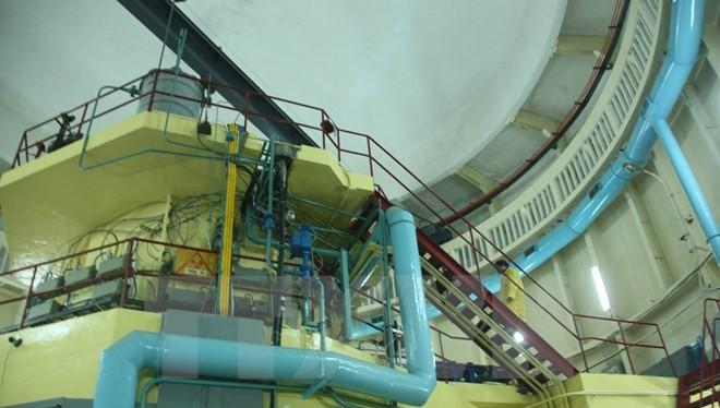 Một góc lò phản ứng hạt nhân Đà Lạt. (Ảnh: Đặng Tuấn/TTXVN)