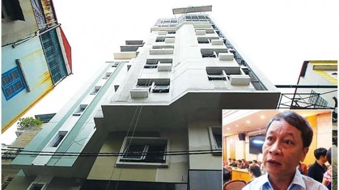 Tòa nhà cao 8 tầng, 1 tum, 1 hầm của ông Nguyễn Hoàng Linh – PGĐ Sở GTVT Hà Nội đứng tên hiện đang thu hút sự chú ý của dư luận.