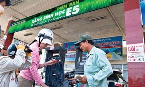 Chính phủ yêu cầu đẩy mạnh sử dụng xăng sinh học E5
