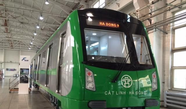 Đoàn tàu mẫu tuyến Cát Linh - Hà Đông sắp được trưng bày để lấy ý kiến người dân.