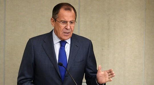 Ngoại trưởng Nga Sergey Lavrov phát biểu trước Hạ viện Nga. Ảnh: RIA Novosti