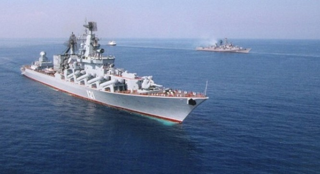 Các chiến hạm của Nga ở biển Địa Trung Hải. Ảnh: Sputnik