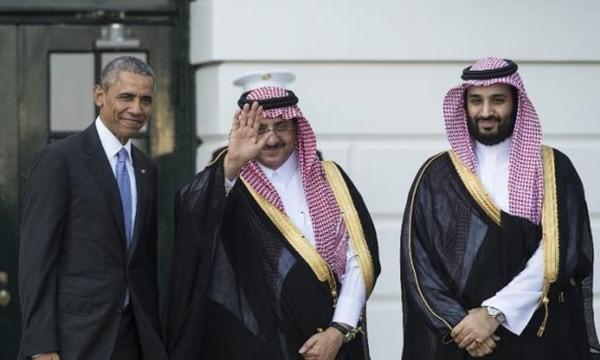 Tổng thống Obama với Thái tử (giữa) và phó thái tử SA