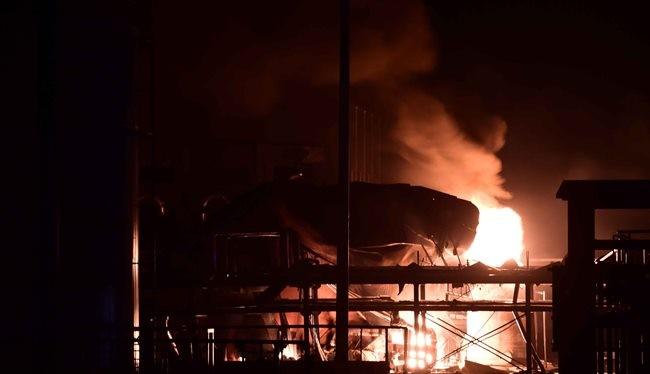 Ảnh minh họa: Một vụ nổ nhà máy hóa chất ở Sơn Đông, Trung Quốc hồi tháng 8 năm nay.