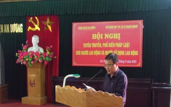 Ông Nguyễn Trường Sơn hiện là đương kim Phó Chủ tịch thường trực UBND huyện An Dương (Ảnh: haiphong.gov.vn)