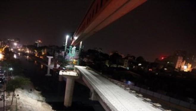 Dự án đường sắt đô thị Cát Linh-Hà Đông. (Ảnh: Huy Hùng/TTXVN)