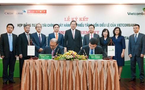Credit Suisse cũng vừa được chọn qua đấu thầu quốc tế làm tư vấn tài chính cho nhiều ngân hàng lớn tại Việt Nam.