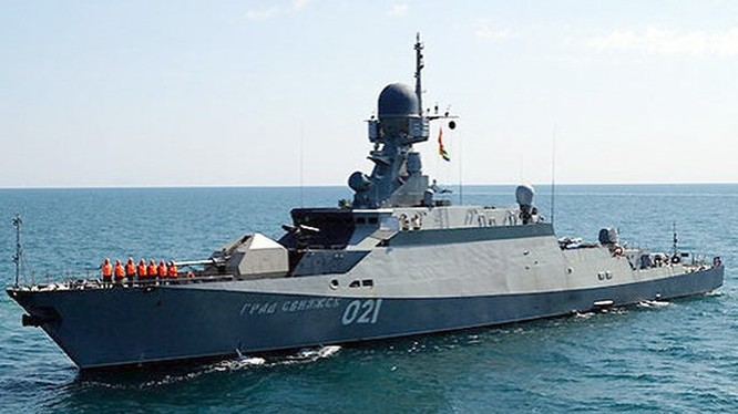 Tàu tên lửa lớp Buyan-M của Hạm đội Caspi - Ảnh: RIA