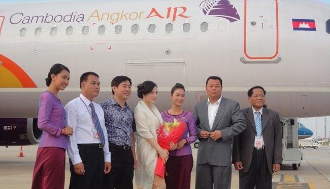 Hãng hàng không Cambodia Angkor Air đang dần mở rộng mạng bay trong khu vực - Ảnh: TLTBKTSG Online.
