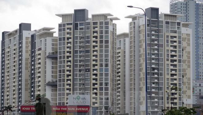Dự án căn hộ cao cấp The Sun Avenue, quận 2, Thành phố Hồ Chí Minh thu hút khách trong thời gian qua. (Ảnh: Hoàng Hải/TTXVN)