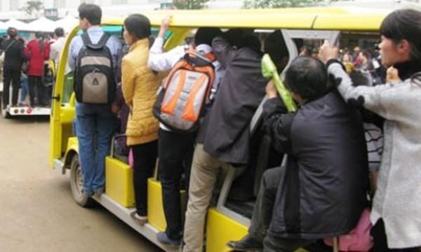 """Cảnh đi xe điện ở khu du lịch của """"đại gia"""" Ninh Bình"""