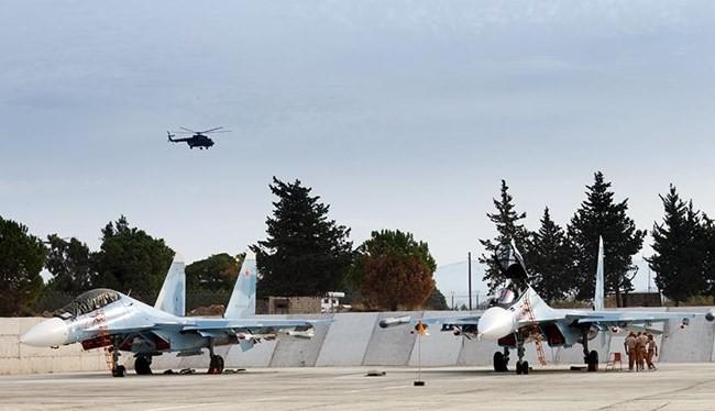 """Su-30SM Không quân Nga tại sân bay Syria Basel al-Assad (""""Hmeymim"""")"""