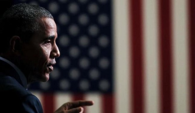 Tổng thống Mỹ Barack Obama phát biểu trong một cuộc họp ở Newark, New Jersey hôm 2/11.