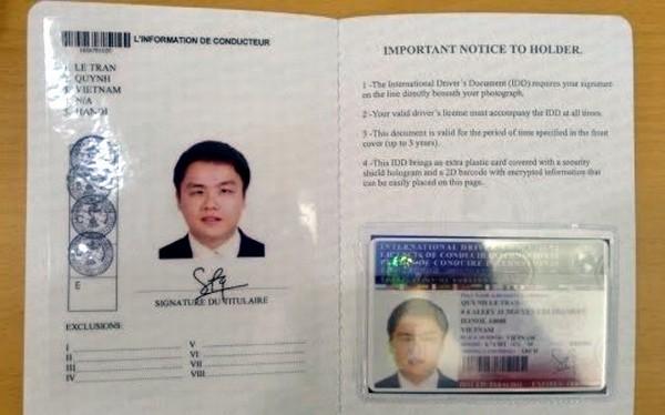 Hôm nay chính thức cấp giấy phép lái xe quốc tế
