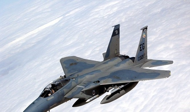 Máy bay chiến đấu F-15C Eagle. (Nguồn: Daily Mail)