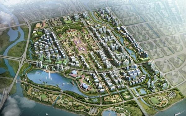 Phối cảnh tổng thể Dự án Khu trung tâm hành chính gần 10 nghìn tỷ đồng của TP. Hải Phòng (nguồn: haiphong.gov.vn)