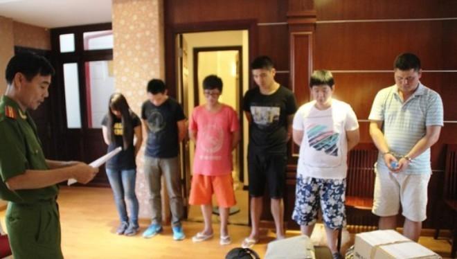 Một số đối tượng người Đài Loan bị bắt do lừa đảo qua điện thoại