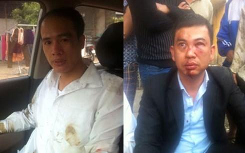 Hai luật sư Lê Văn Luân và Trần Thu Nam.