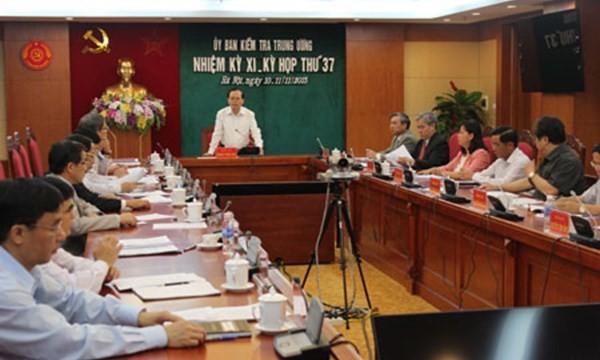 Phiên họp của Ủy Ban Kiểm tra Trung ương Đảng (Ảnh: cpv.org.vn)