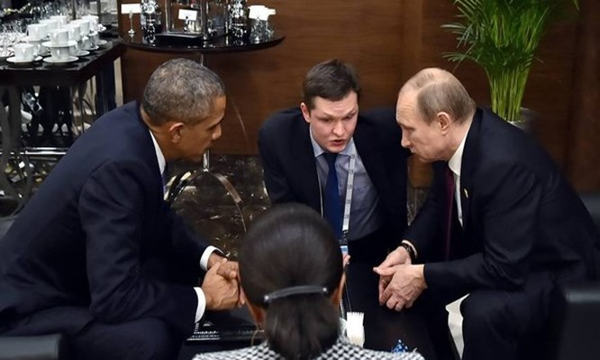 Tổng thống Obama và Tổng thống Putin mặt đối mặt bàn về vấn đề an ninh thế giới