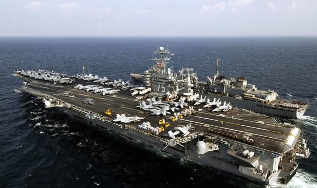 Tàu sân bay Mỹ USS Harry S. Truman - Nguồn: ejection