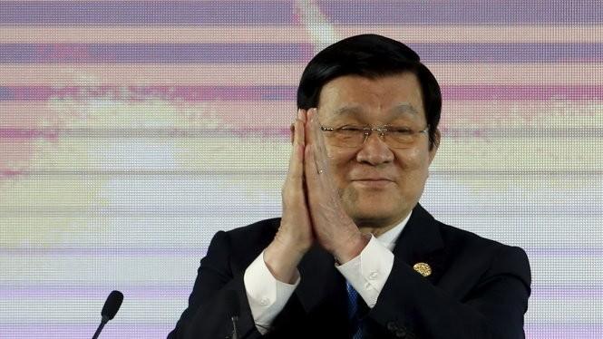 Chủ tịch nước Trương Tấn Sang tại Manila - Ảnh: Reuters