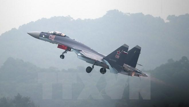 Máy bay chiến đấu Sukhoi SU-35. (Nguồn:AFP/TTXVN)