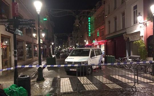 Trung tâm Brussels bị phong tỏa tối 22-11. Ảnh: Telegraph
