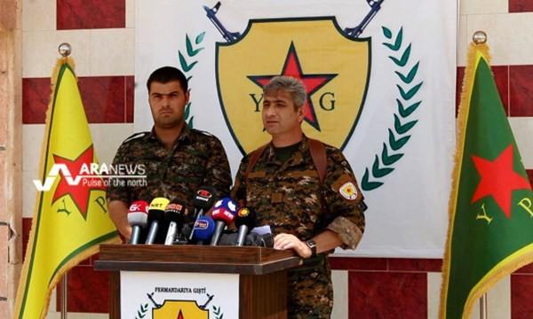 Redur Khalil, phát ngôn viên chính thức của YPG trả lời họp báo