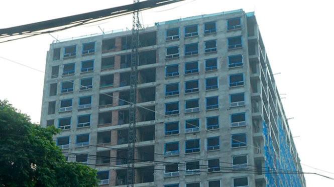Tòa nhà 8B Lê Trực, Hà Nội - Ảnh: TTO