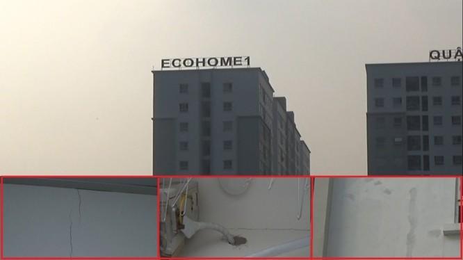 Chung cư Ecohome mới sử dụng đã vá chằng vá chịt