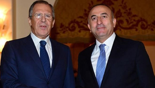 Ngoại trưởng Nga Sergei Lavrov trong một cuộc gặp với người đồng cấp Thổ Nhĩ Kỳ Mevlut Cavusoglu. (Nguồn: Getty Images)