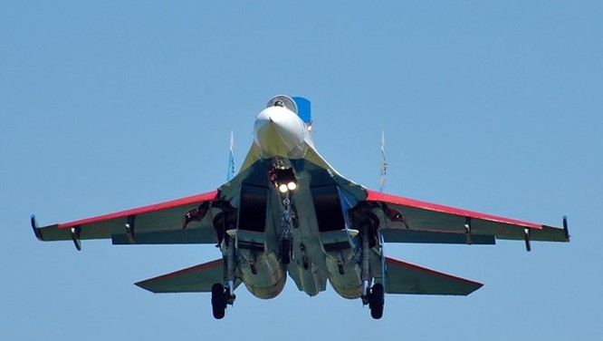 Chiến đấu cơ Su-27SM3 Flanker của Nga.